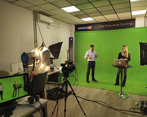 croma portátil para grabación de video promocional de eventos virtuales